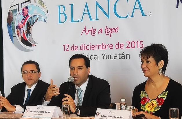 """Presenta Vila """"La Noche Blanca"""" en la capital del país"""