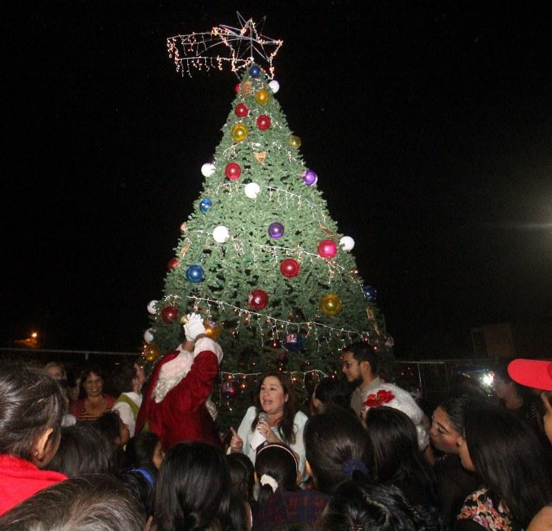 Encienden árbol de Navidad en Emiliano Zapata Sur II