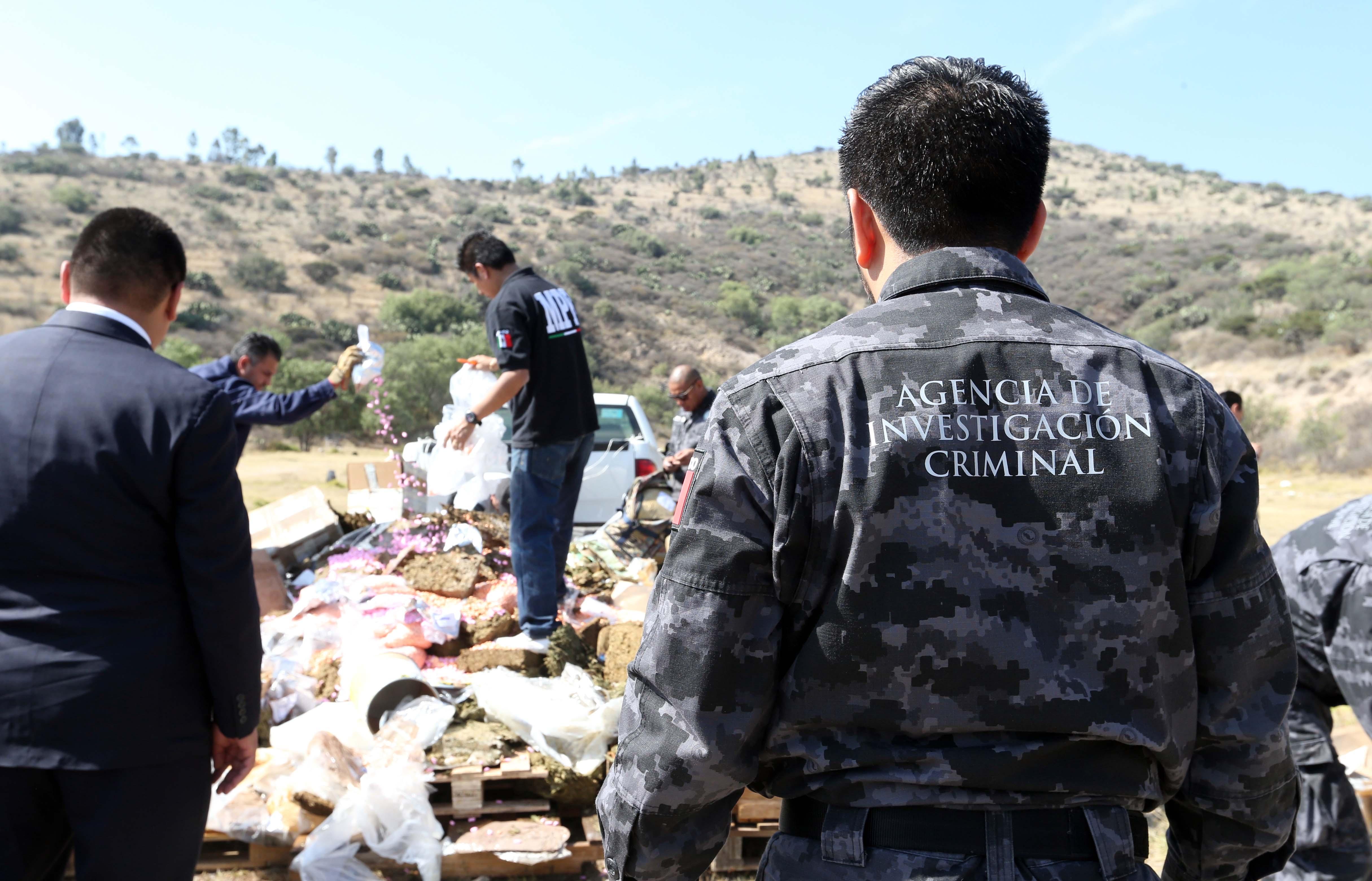 Incineran narcóticos en 10 estados de México