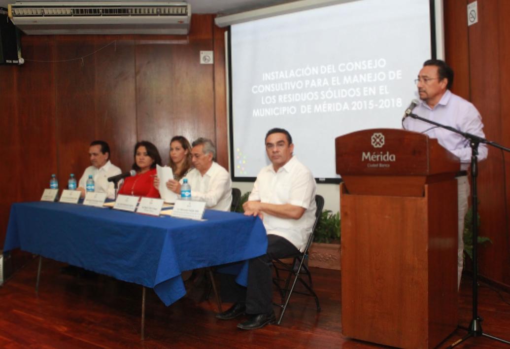 Instalan Consejo para el Manejo deResiduosSólidos en Mérida