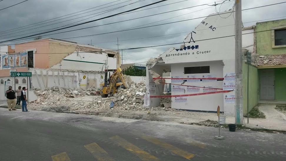 Suspenden demolición de predio por riesgos de seguridad