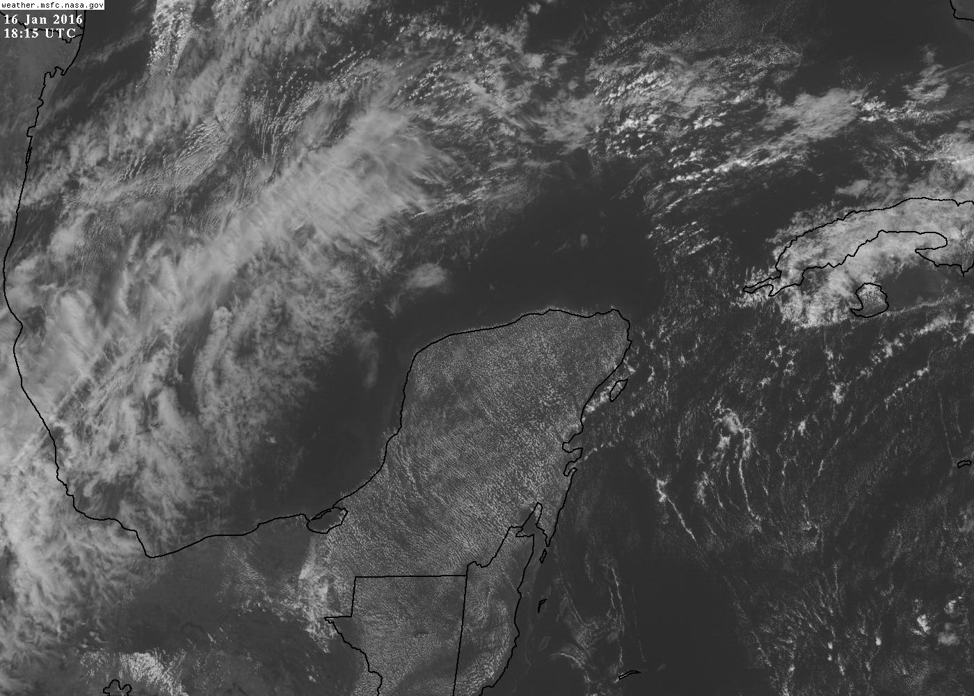Ingresa nuevo frente frío a Península de Yucatán este domingo
