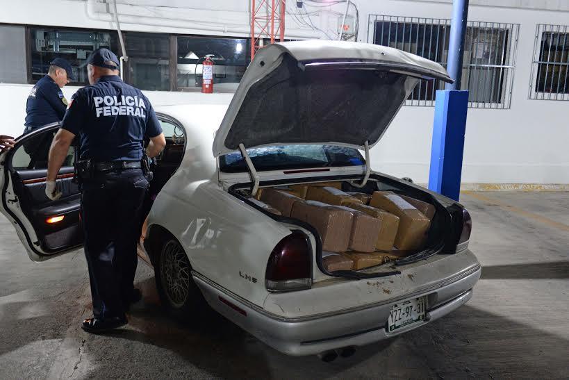 Aseguran más de 350 kilos de marihuana en carretera Mérida-Cancún