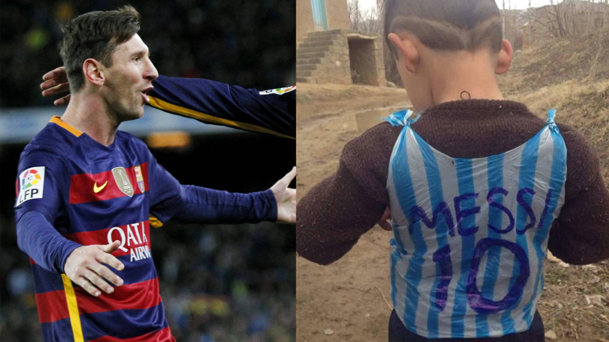 Messi conocerá al niño afgano que improvisó su camiseta con una bolsa