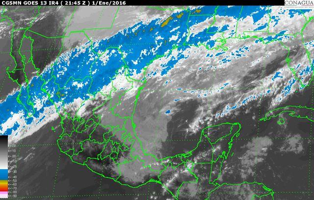Ingresará Frente frío No. 24 a Península de Yucatán este domingo