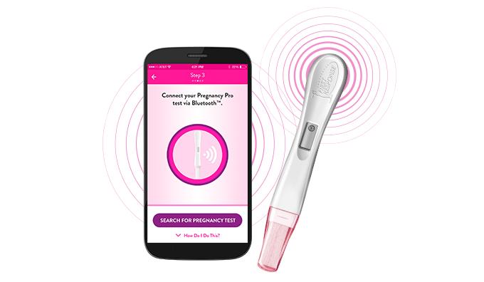 Prueba de embarazo que se sincroniza con tu smartphone