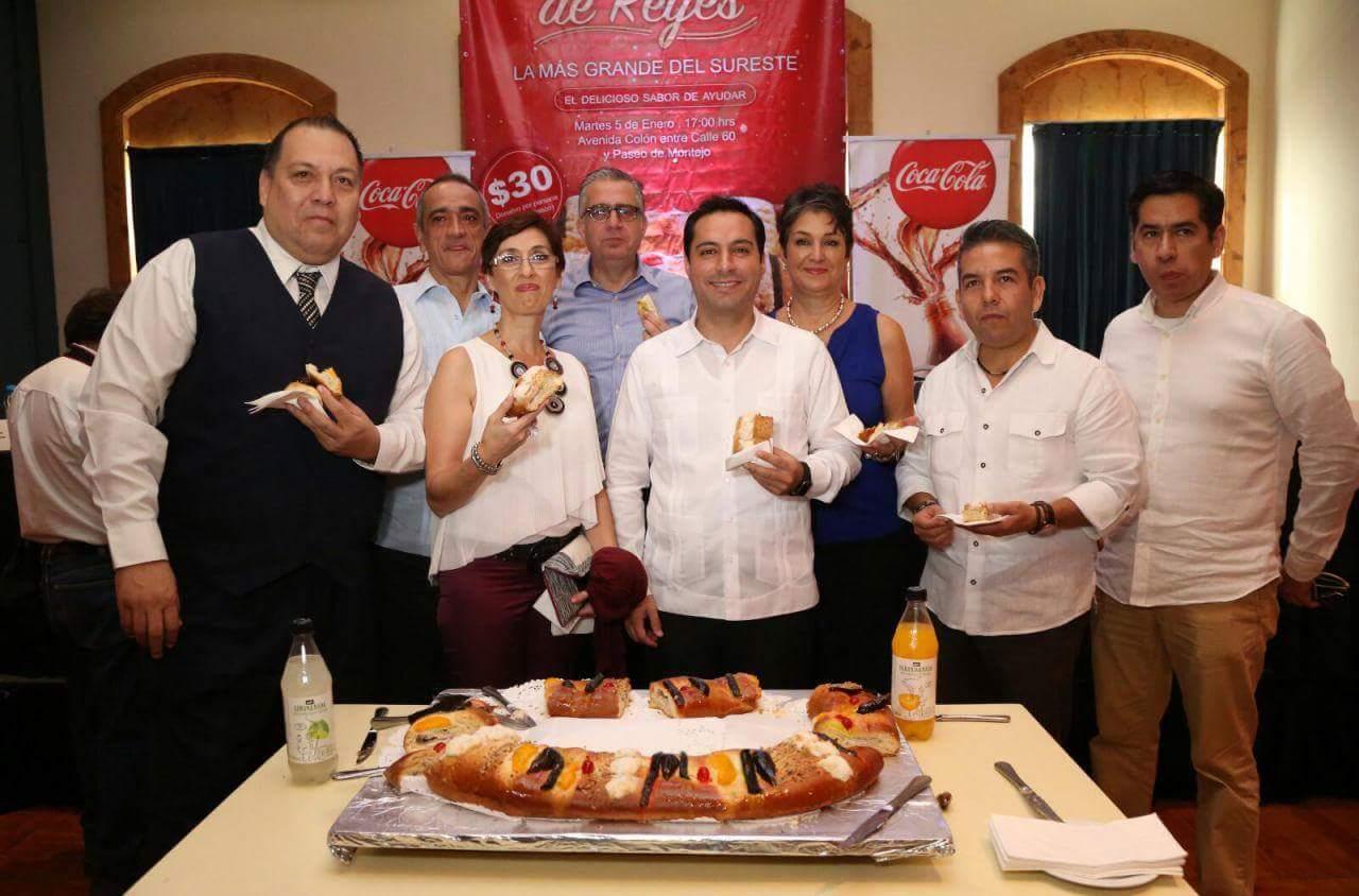 Invitan a mega Rosca de Reyes en Mérida