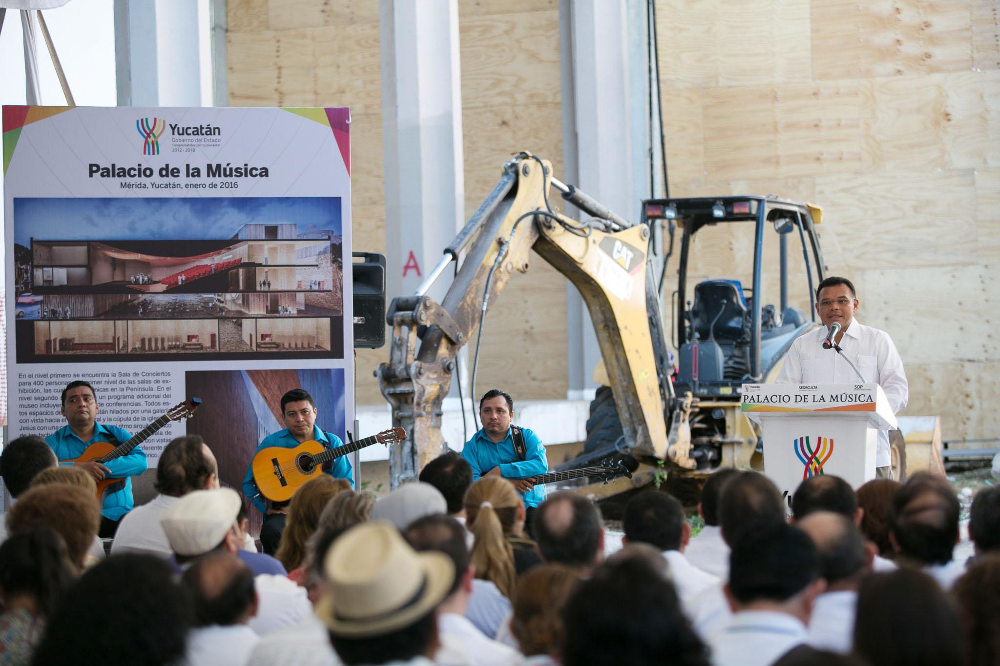 Inicia construcción de Palacio de la Música