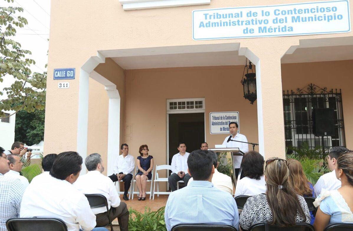 Inauguran oficinas del Tribunal de lo Contencioso Administrativo de Mérida