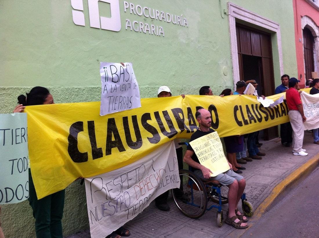 Exigen justicia por tierras en comisaría de Mérida