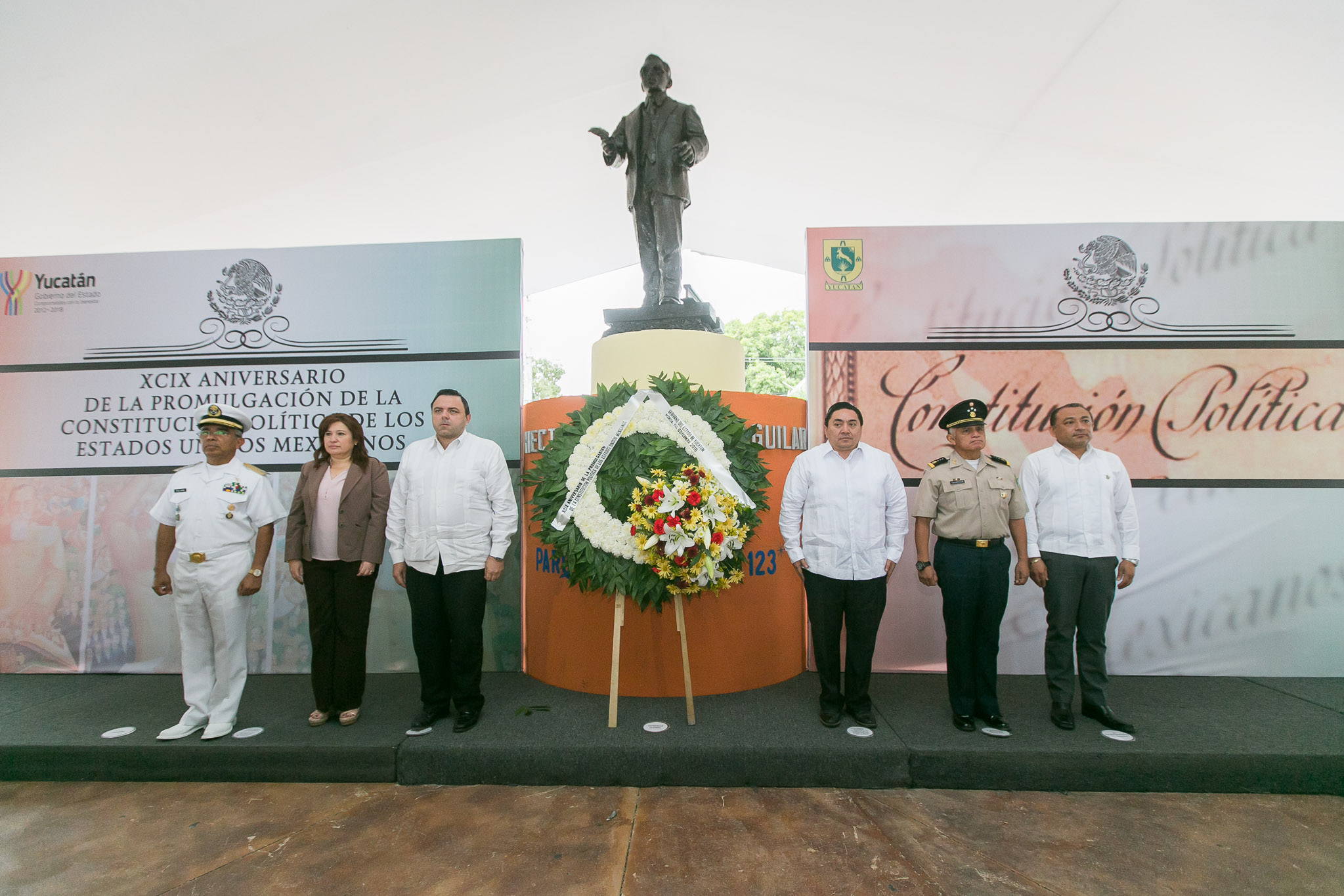 Conmemoran XCIX aniversario de la Constitución Política de México