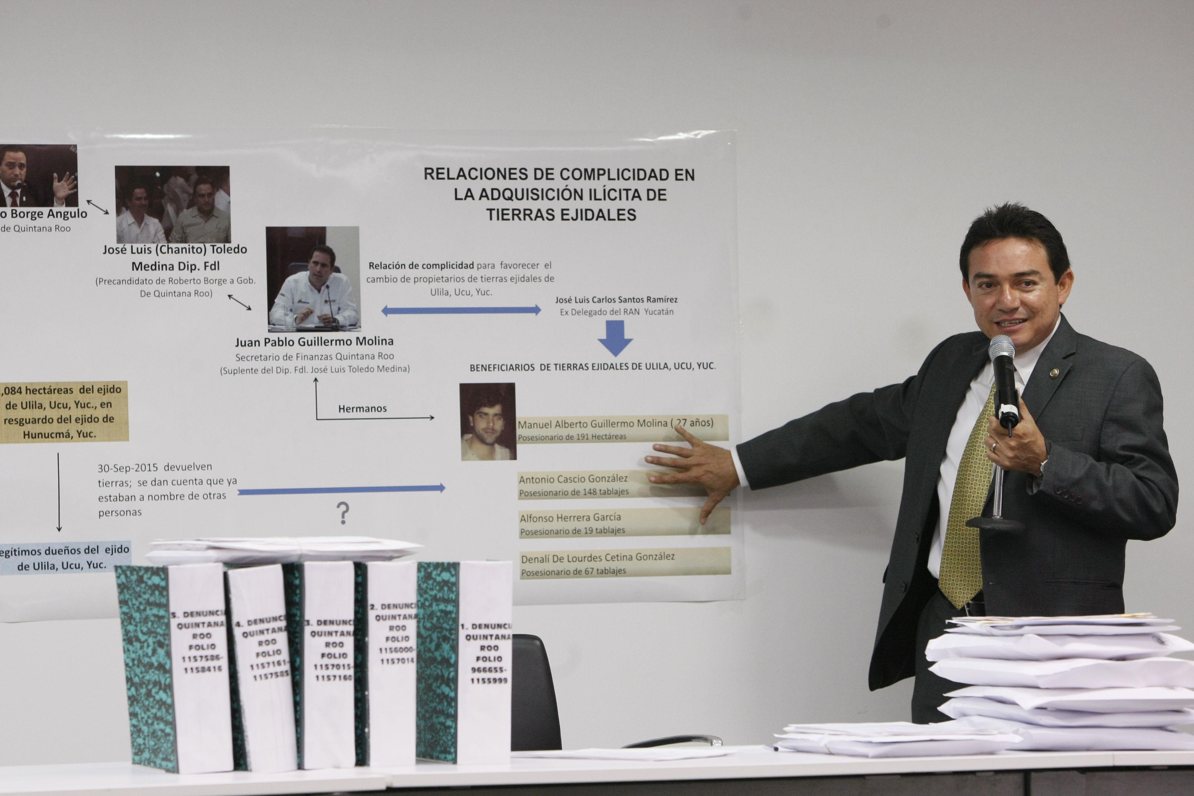 Retoma senador escándalo de tierras entre Yucatán y QRoo