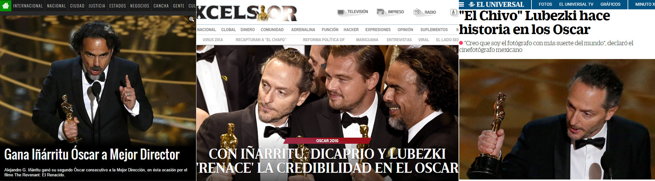 ¡El Negro, El Chivo y DiCaprio!