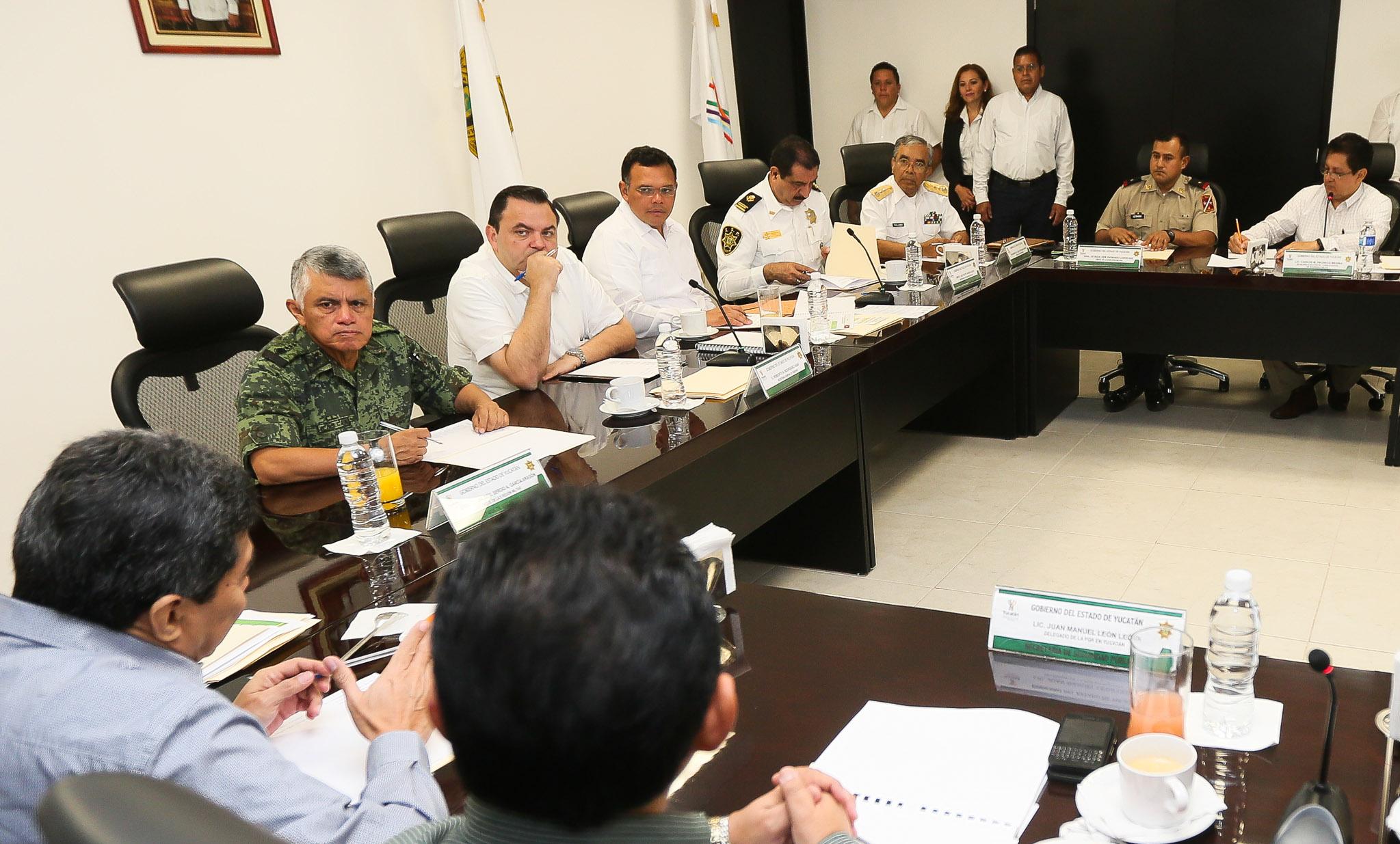 Encabeza Rolando Zapata reunión de Grupo de Coordinación Local de Seguridad