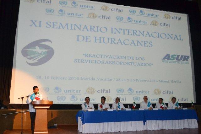 Abre en Mérida Seminario Internacional de Huracanes