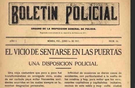Prohibió Policía Municipal sentarse en calles… hace 99 años