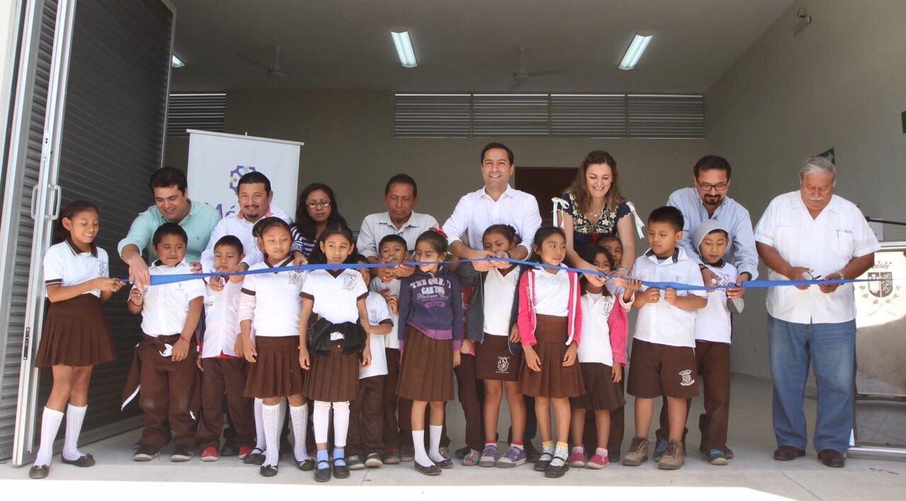 Inaugura Vila comedor escolar en Dzoyaxché