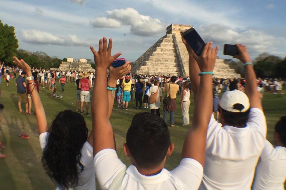 Reciben la primavera maya en Chichén Itzá