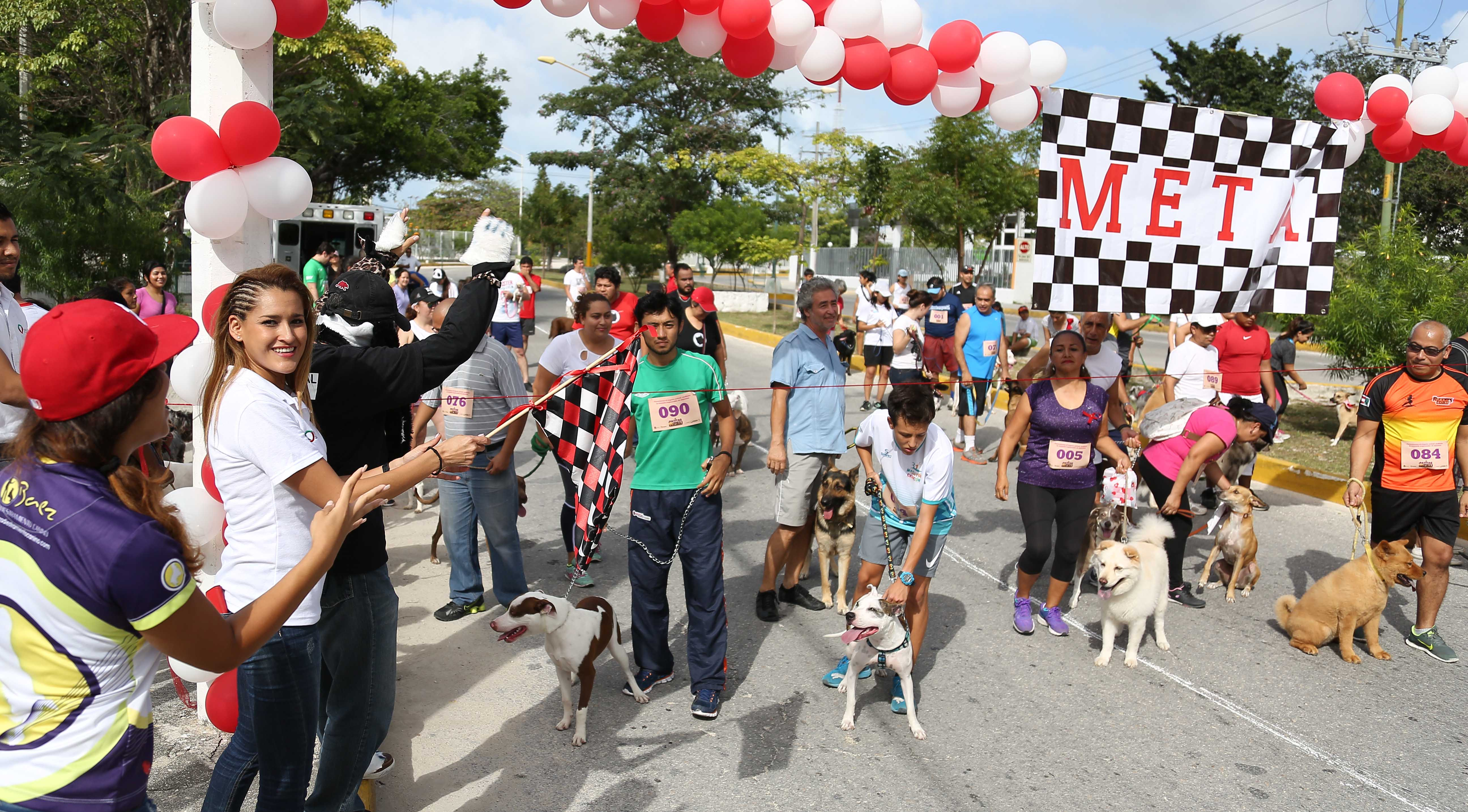 Mascotas y dueños corren en Cancún
