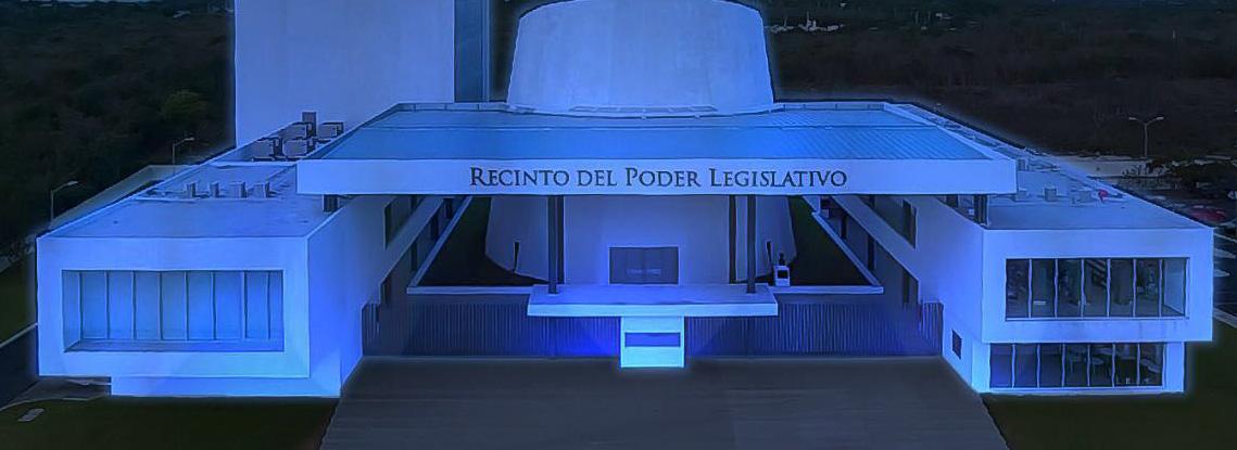 Iluminan de azul Congreso Yucatán por Día de Autismo