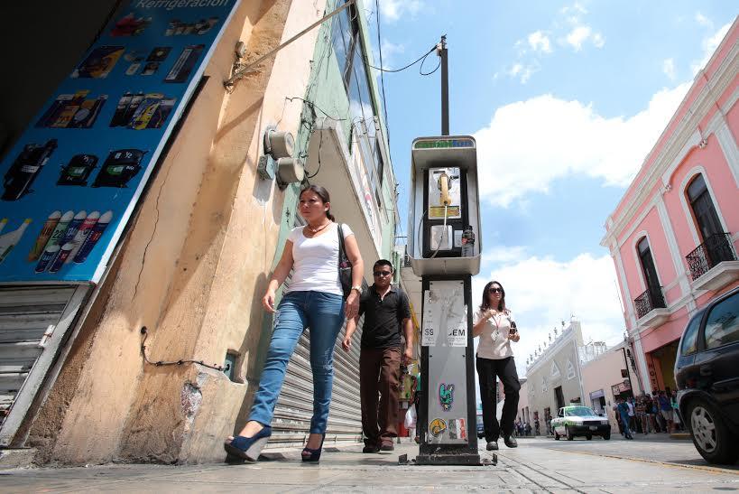 Retira Mérida 140 casetas telefónicas de su Centro Histórico