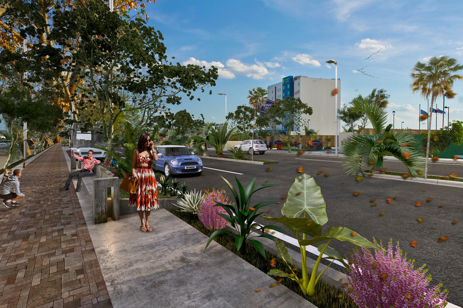 Construyen avenida paralela a Prolongación Montejo