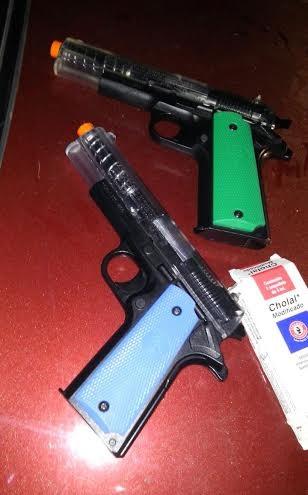 Detenidos 5 por disparar a transeúntes con pistola de perdigones