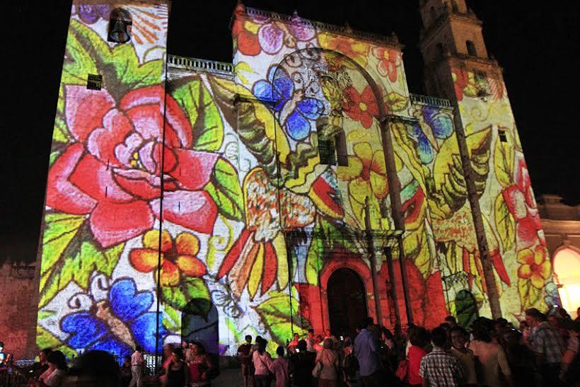 Reanuda Mérida Videomappings en Catedral y Casa de Montejo