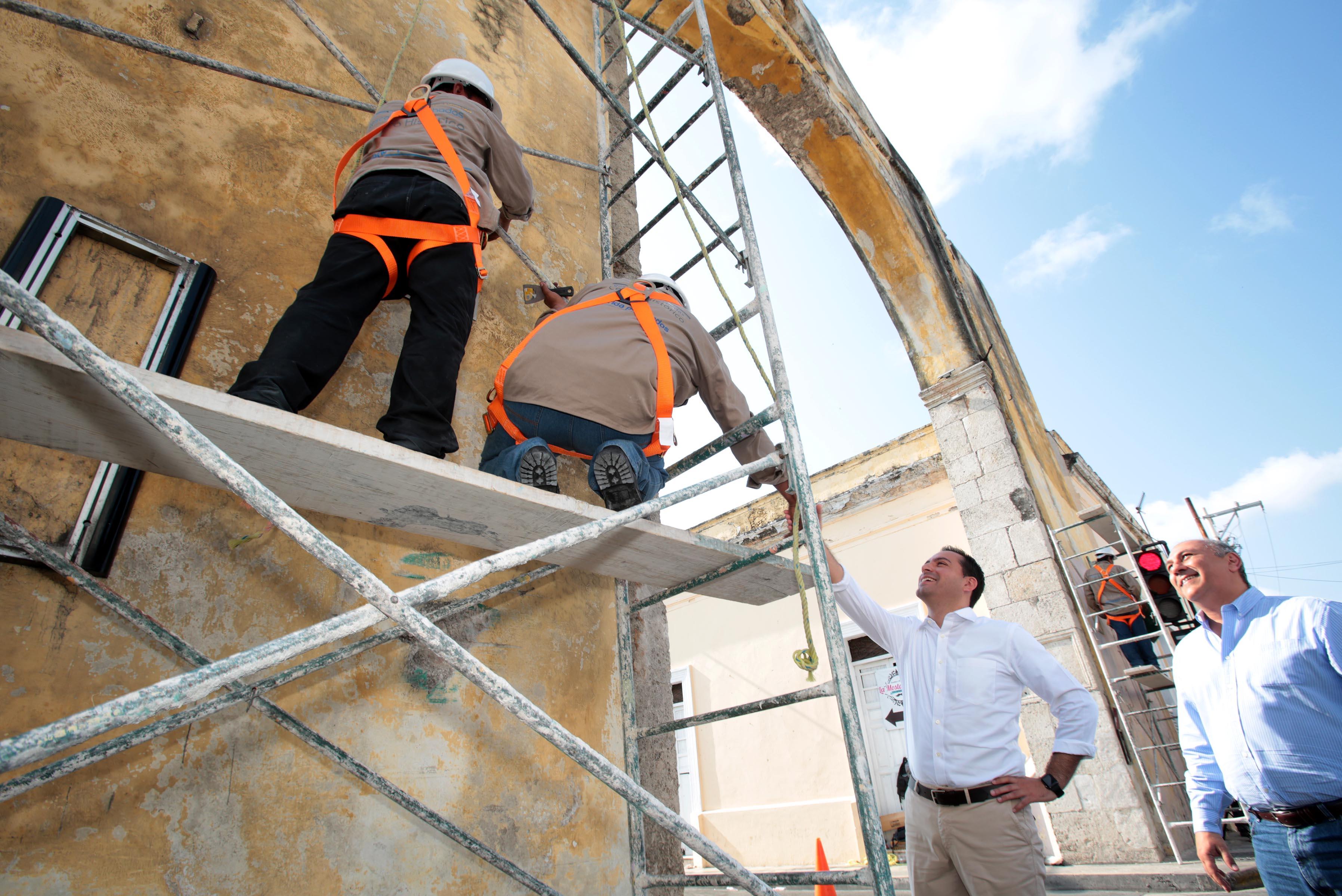 A buen ritmo marcha restauración del Arco de Dragones