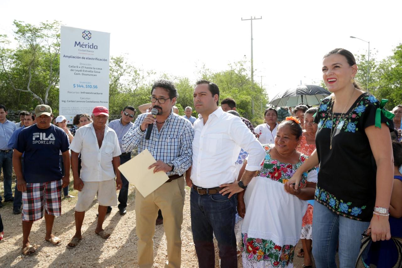 Llevan energía y agua potable a comisaría de Dzununcán