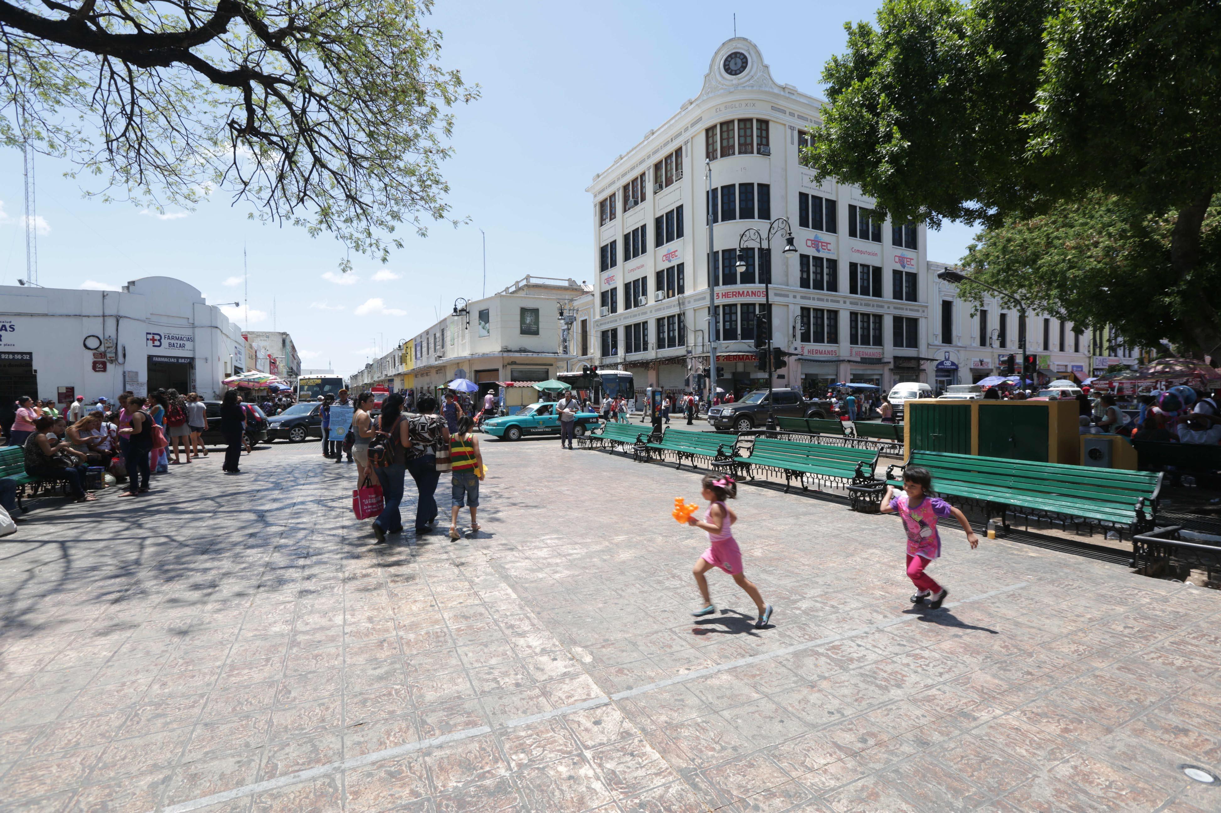 Concluye primera semana de trabajos de reparación en Centro Histórico de Mérida