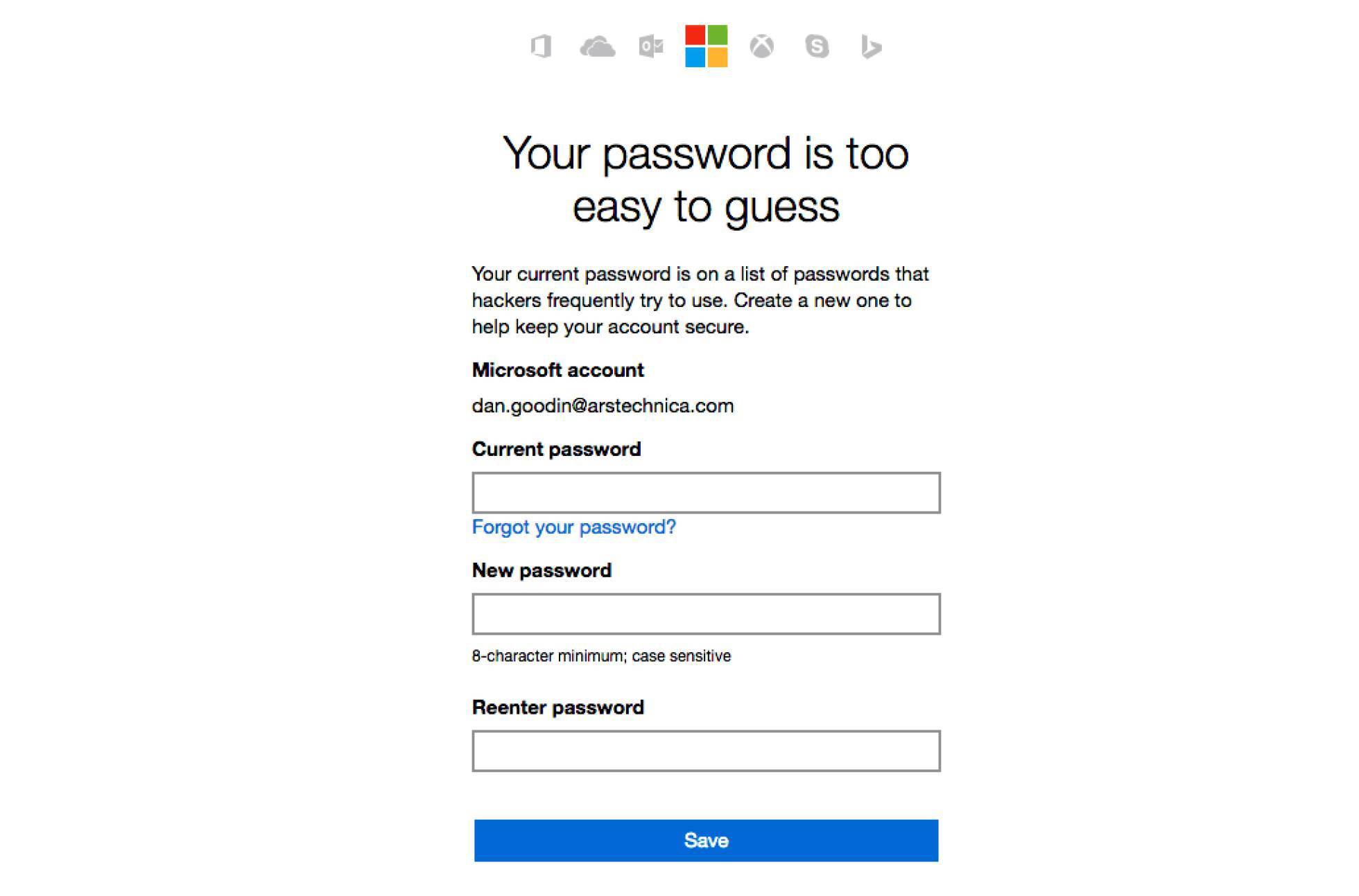 Microsoft prohíbe las contraseñas 'tontas'