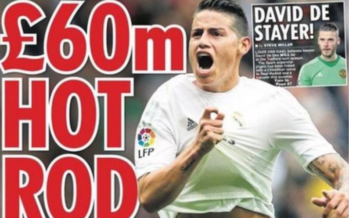 Oferta millonaria de Manchester United por James Rodríguez