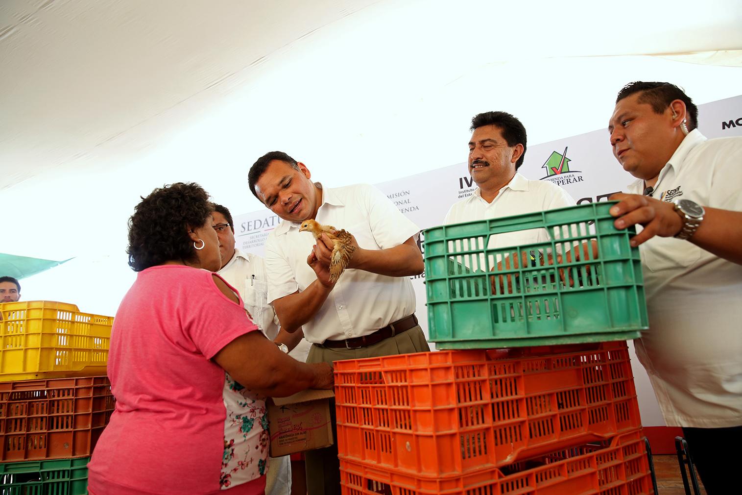 Combaten carencia alimentaria y rezago habitacional en Yucatán