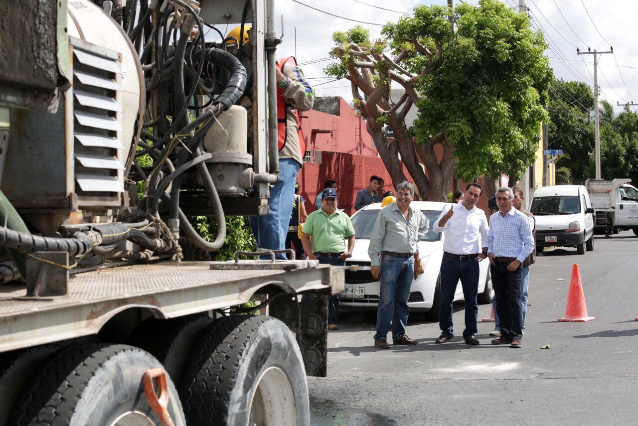Supervisa Vila mejoramiento al drenaje pluvial