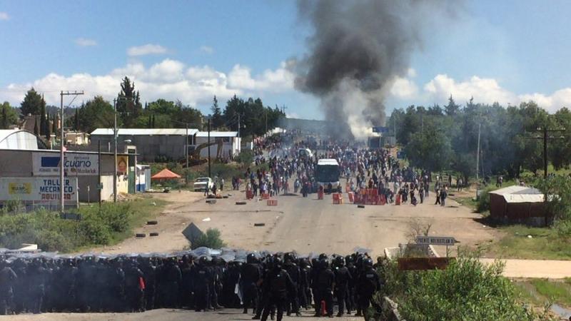 Oaxaca se tiñe de rojo
