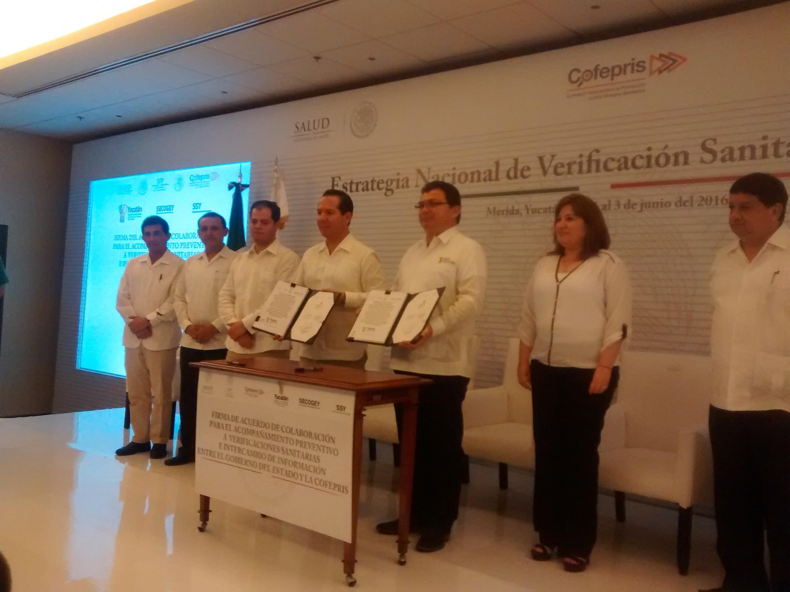 Firman convenio para evitar corrupción en inspecciones sanitarias