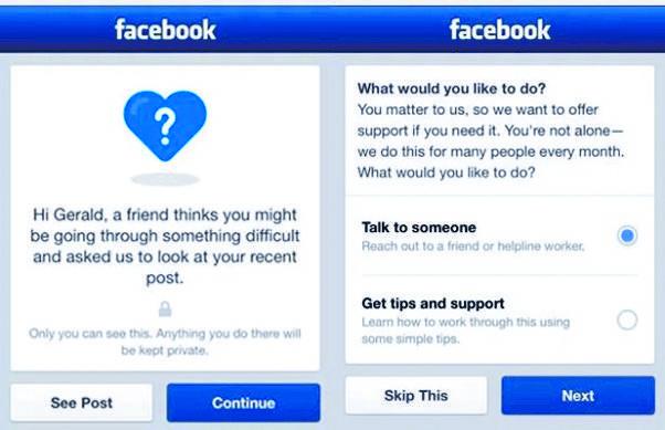 Facebook busca evitar suicidios
