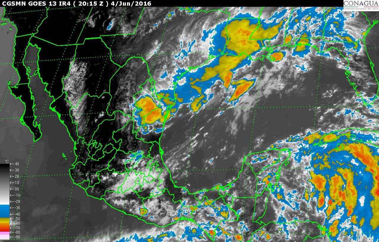 Fuertes lluvias sábado y domingo en Península de Yucatán