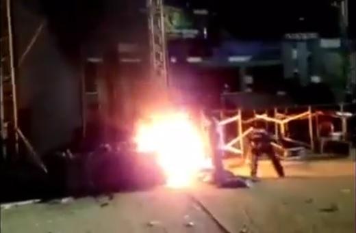 Molestia y destrozos en el Carlos Iturralde de Mérida