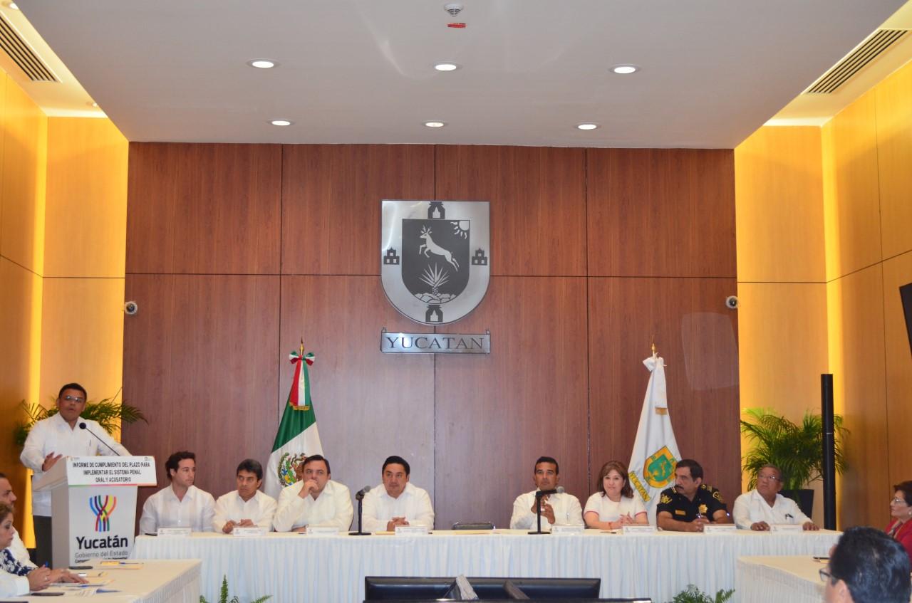 """Nuevo sistema penal, """"en nivel óptimo"""" en Yucatán"""