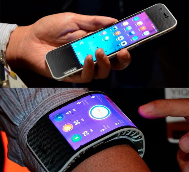 Lenovo lanza smartphone que se dobla y es reloj a la vez