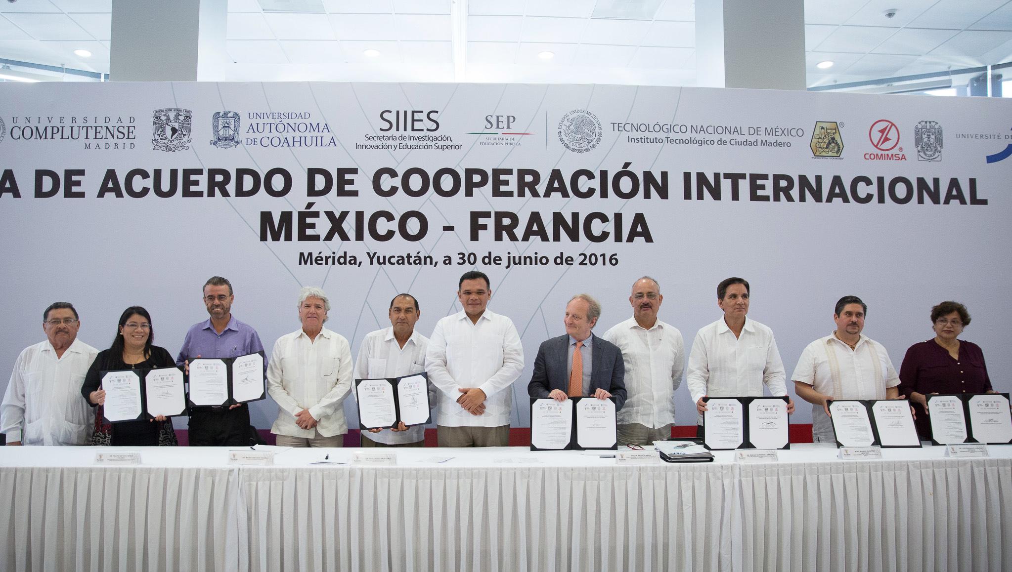 Acuerdan cooperación Francia y Yucatán