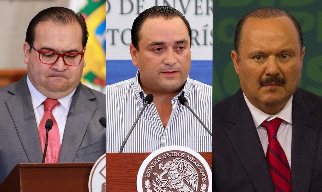 Piden expulsar del PRI a gobernadores de Veracruz, Chihuahua y QR