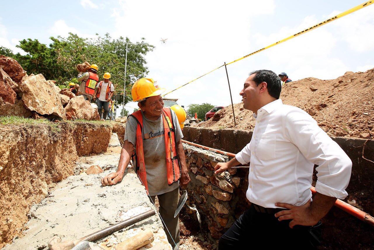 Supervisa Vila trabajos de construcción para evitar encharcamientos