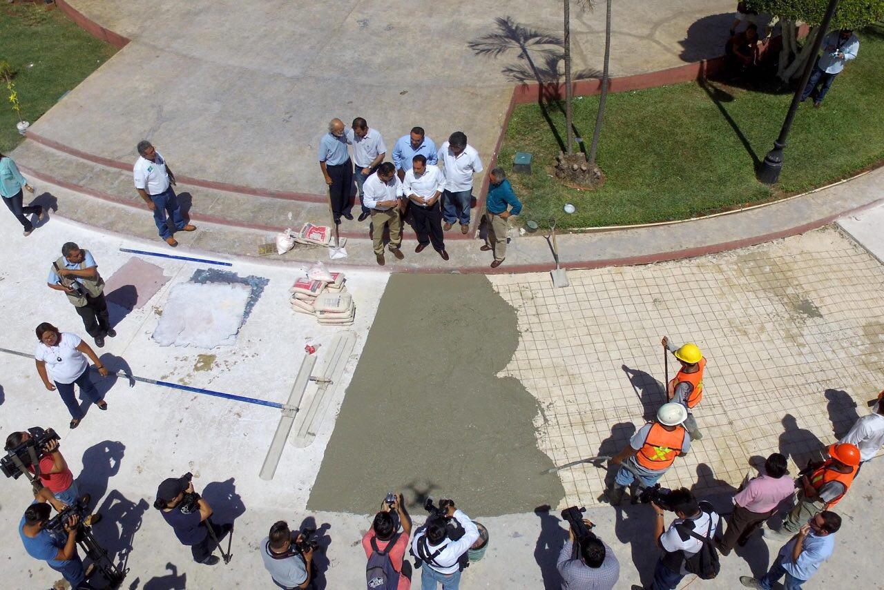 A buen ritmo obras de mejoramiento en Centro Histórico de Mérida