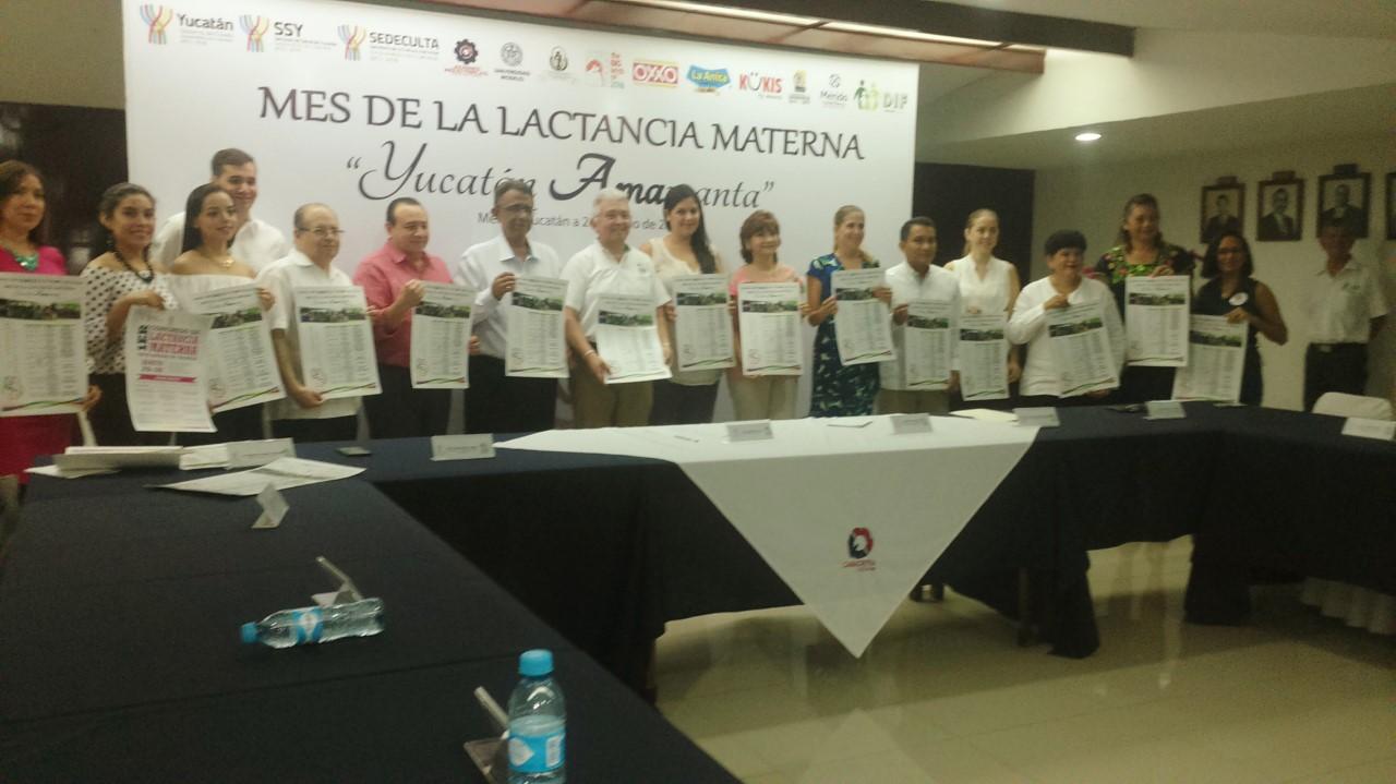 Conscientizan en Mérida sobre lactancia materna