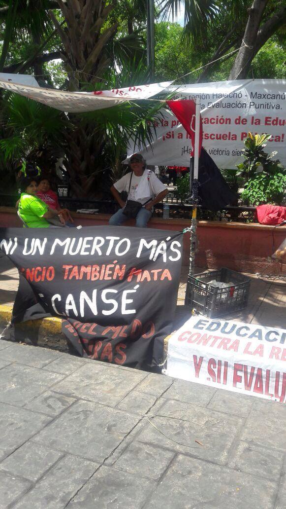Plantón de tres días de seguidores de la CNTE-Yucatán