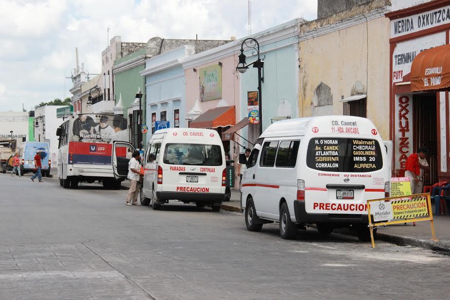 Cambio temporal de 15 paraderos en Centro Histórico de Mérida