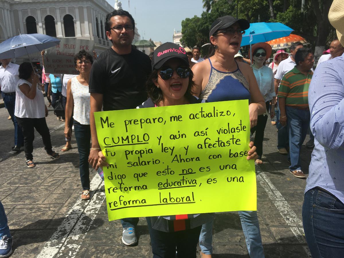 Descartan sanciones a maestros paristas en Yucatán